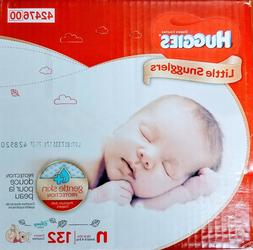 Huggies Little Snugglers Baby Diapers, Size Newborn - 132 Co