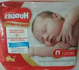HUGGIES Little Snugglers Diapers 24 Count - Newborn Size N