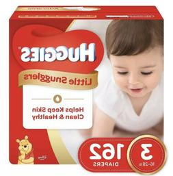 Huggies Little Snugglers Baby Diapers, Size 3, 162 Count, NE