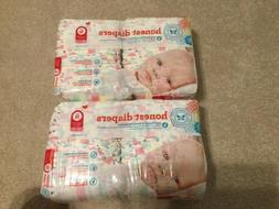 The Honest Company Lot Diapers Pastel Design Sz Newborn 40 E