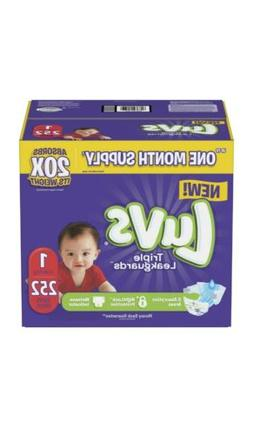 Luvs Ultra Leakguards Newborn Diapers, Size 1, 252 Count