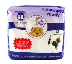 Wiki Wags Male Dog Disposable Diaper Wraps *No.1 People's Ch