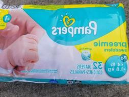 MICRO Preemie Pampers   4lb ~ XS Diapers * 32 ct ~ Baby NEWB