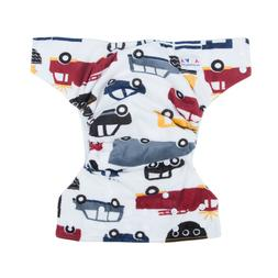 ALVA Mink All In One Double Gussets Diaper with Pocket Sewn-