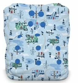 Thirsties Naturals One Size All in One Cloth Diaper Snap Sno