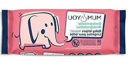 Mum and You New 100% Biodegradable Baby Wipes, 56 ct