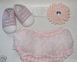 NEW BABY GIFT SET Diaper Covers Baby Bloomers,headband and s
