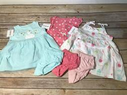 NEW CARTERS Baby GIRL Size 3 MONTHS 3M Dress Diaper Cover Se
