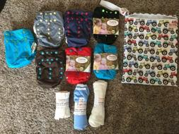 NEW SMART BOTTOMS Start Kit 7 Smart Diapers Plus Wipes Liner