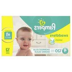 NEW - Pampers Swaddlers 120-Count Size 4 Pack Diapers - FREE