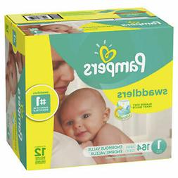 NEW - Pampers Swaddlers 164-Count Size 1 Pack Diapers - FREE