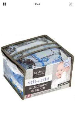 New Kushies Ultra Washable Cloth AIO Diapers Infant 10-22 lb