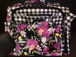 NWOT Jujube Gingham Bloom GB BFF Diaper Bag Complete W/ Chan