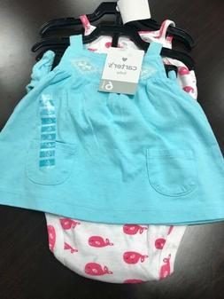 NWT Carters Baby 3 Piece Diaper Cover Set
