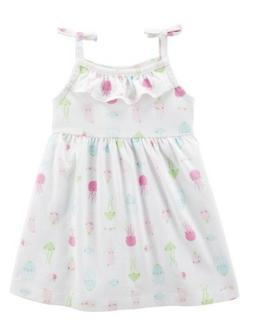 NWT's Carter's Baby Girl Jellyfish Jersey Dress with Diaper