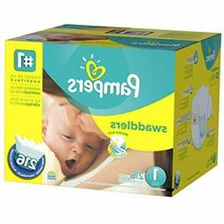 Pampers Swaddlers Disposable Diapers Newborn Size 1  216 Cou