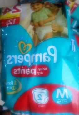 Pampers Pants Diaper M Size 7-12 kg  2 Pads in Each Pack