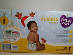 Parent's Choice Diapers Size 1 limited Christmas edition