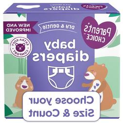 Parent's Choice Dry and Gentle Baby Diapers Sizes 1-6, Count