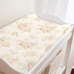 Carousel Designs Pink Floral Changing Pad Cover