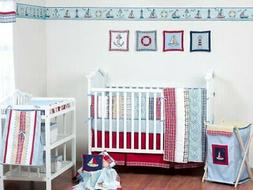 Bacati Plaids/Stripes Boys 4 Piece Crib Set Including Diaper