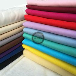 Plain Solid 100% Cotton Fabric Quilting Sewing Craft Patchwo