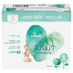 Pampers Pure Protection Diapers - Size 2, 12 - 18 lbs, 144 c
