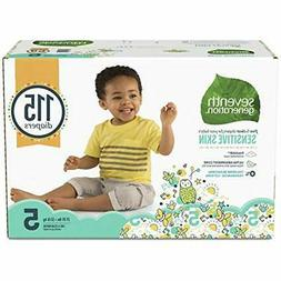 SALE Baby Diapers For Sensitive Skin, Animal Prints, Size 5,