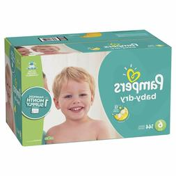 SIZE 6 DIAPERS  Pampers Baby Dry Disposable Baby Diapers, On