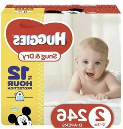 HUGGIES Snug & Dry Diapers, Size 2, 246Count