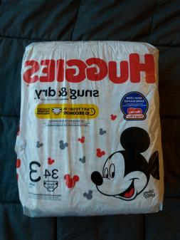 Huggies Snug and Dry Diapers, Size 3, 34 ct