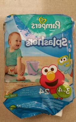 Pampers Splashers Size 3-4 16-34 lbs 7-15kgs 24 Disposable S