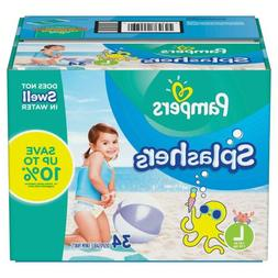 Pampers Splashers Swim Diapers Large  - 34 ct.