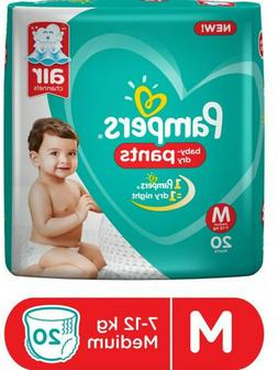 Pampers Stylish Baby Diapers Dry Pants Medium -20 pcs count.