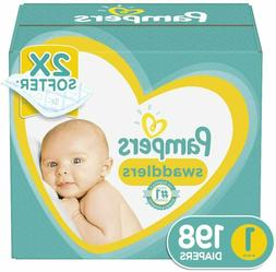 Diapers Newborn/Size 1 , 198 Count - Pampers Swaddlers Dispo