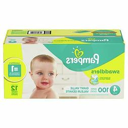 Pampers Swaddlers Disposable Baby Diapers, Size 4, 100 Count