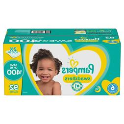 Pampers Swaddlers Diapers, Size 6, 92 Count, 35+ lb, 2X Soft