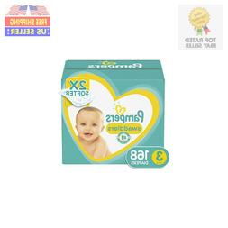Pampers Swaddlers Disposable Baby Diapers Size 3, 168 Count,