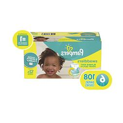 Pampers Swaddlers Disposable Baby Diapers Size 6, 108 Count,