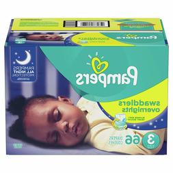 Diapers Size 3, 66 Count - Pampers Swaddlers Overnights Disp