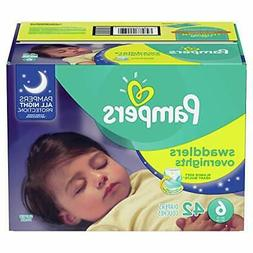 Pampers Swaddlers  Overnights Disposable Baby Diapers Size 6