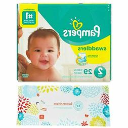 Pampers Swaddlers Size 2 Diapers  Bundle with Honest Company