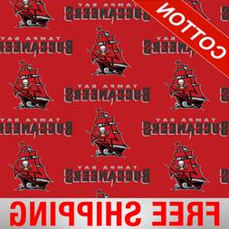 """Tampa Bay Buccaneers NFL Cotton Fabric - 60"""" Wide - Style# 6"""