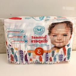 The Honest Co Diapers -Feathers- Size 3 16-28 lb, One Pack 3