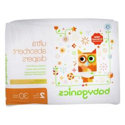Babyganics Ultra Absorbent Baby Diapers Size 2 30 Count