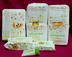 BabyGanics Ultra Absorbent Diapers Size 1,2,3 Pack