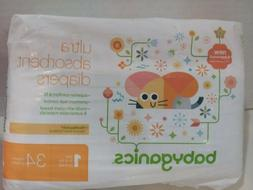 BabyGanics Ultra Absorbent Diapers Size 1 8-14 lbs 4-6 kg 34