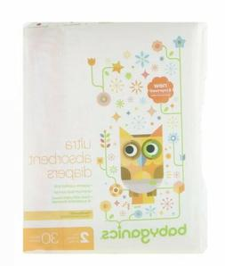 BabyGanics  Ultra Absorbent Diapers  Size 2  12-18 lbs  5-8