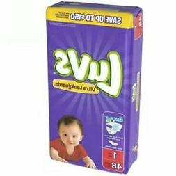 LUVS Ultra Leakguards Diapers, Size 1 , 48 Count
