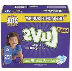 Luvs Ultra Leakguards Diapers Size4, -172 ct.